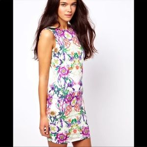 Dresses & Skirts - Flowered Low Back Mini